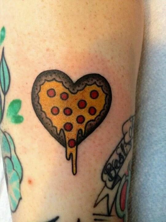 Heart Delicious Pizza Tattoo Tattoomagz Tattoo Designs Ink