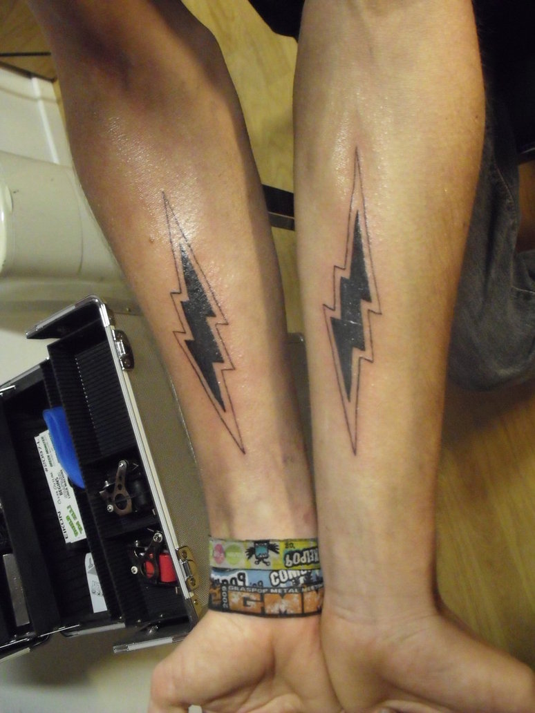 LIghtning Bolt Arm Tattoojpg