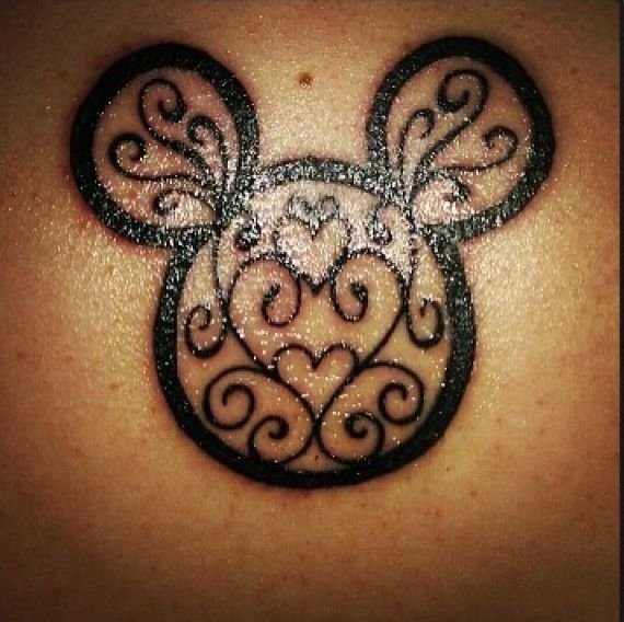 20 Black Simple Disney Tattoos Ideas And Designs