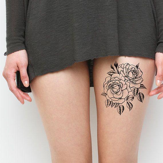 leg small temporary tattoo
