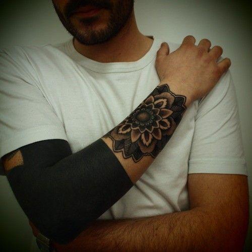 Mandala Wrist Tattoo Men