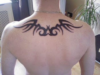 Tribal Upper Back Tattoo Designs For Men