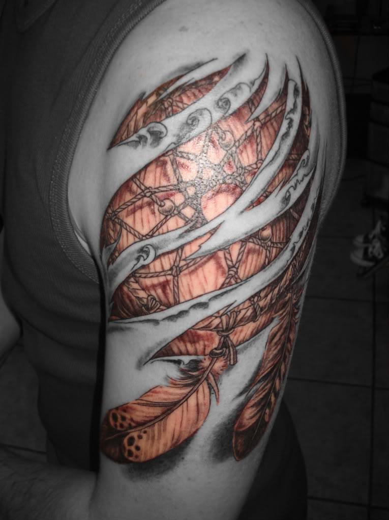 Tribal Dreamcatcher Tattoos For Men