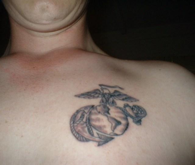 Eagleglobe And Anchor Tattoo On Bradon