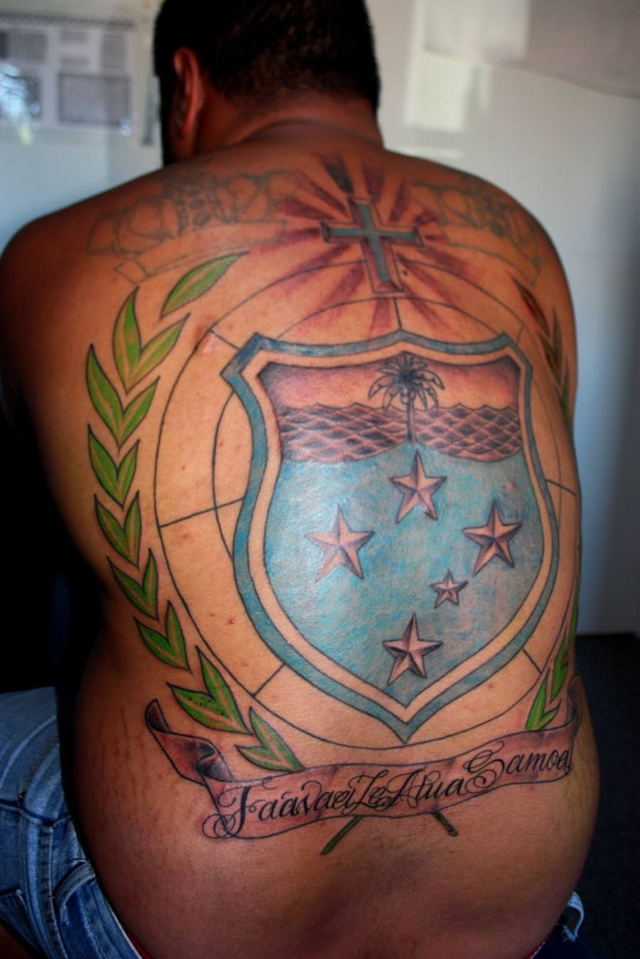 Full Back Cross Tattoos