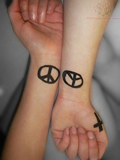 Peace Symbol Tattoo Designs