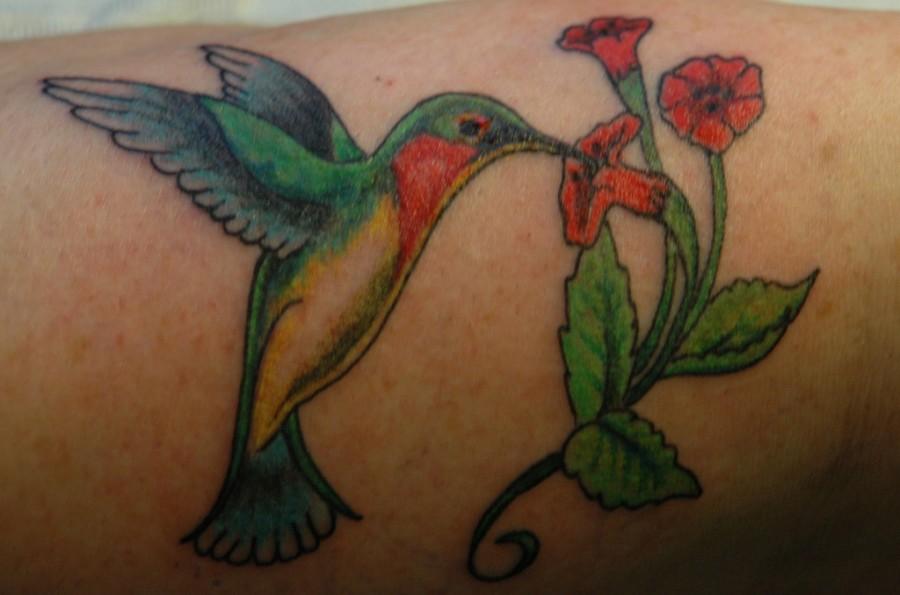 Hummingbird With Flower Tattoo Meaning Kayaflowerco