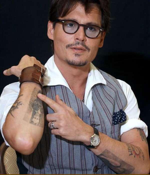 Cool Johnny Depp Tattoos Design Arm