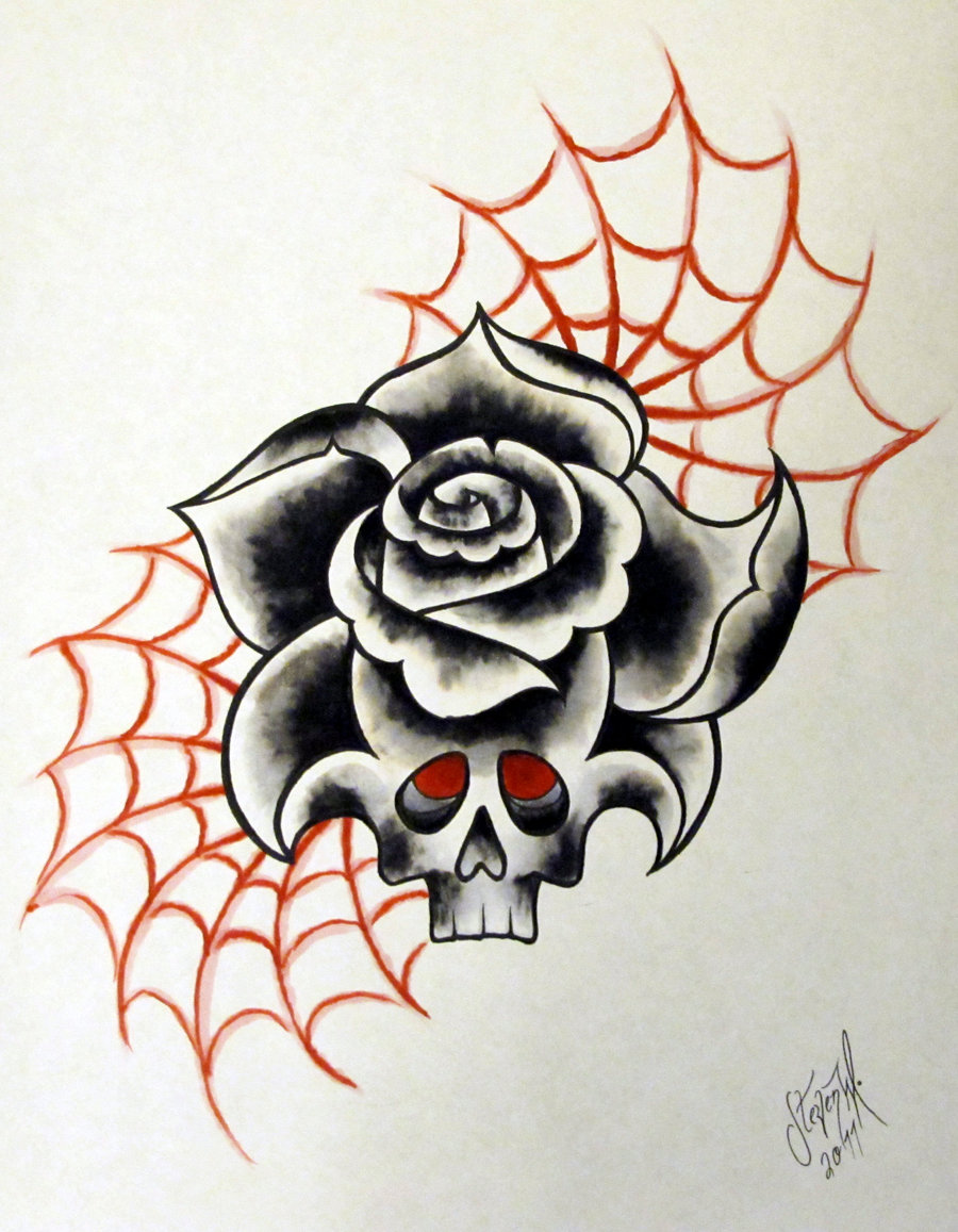 Neo Traditional Skull Tattoo Designs