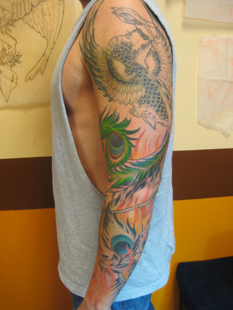 Phoenix Tattoo Designs For Men