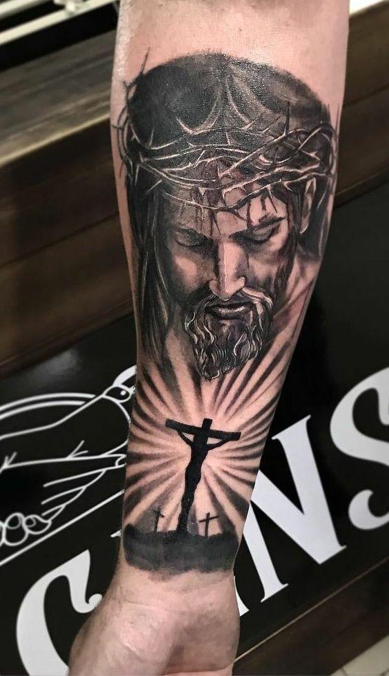 Jesus Christ Tattoo On Forearm : jesus, christ, tattoo, forearm, Jesus, Tattoos, Forearm, Gallery