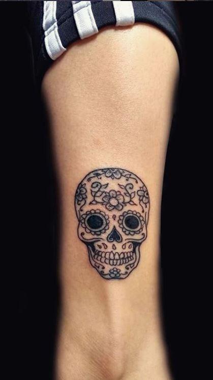 Small Mexican Tattoos : small, mexican, tattoos, Unique, Sugar, Skull, Tattoos, Designs, Ideas, Tattoo