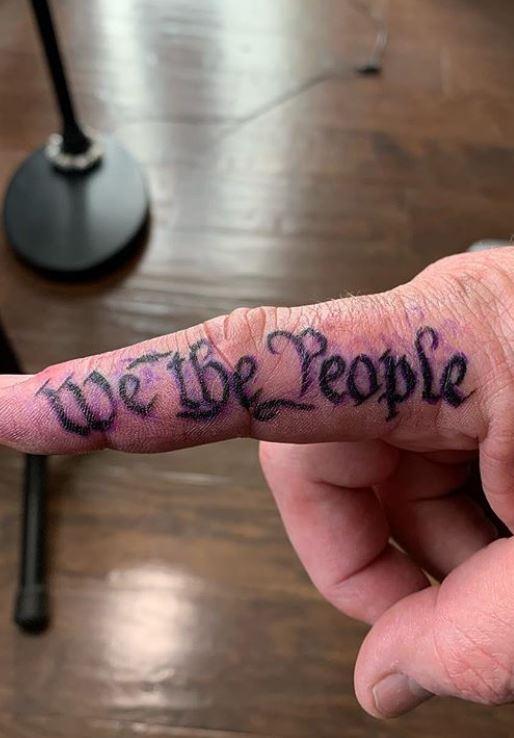"""Patriotic Hand Tattoo : patriotic, tattoo, Patriotic, """"We, People"""", Tattoos, Ideas, Tattoo"""