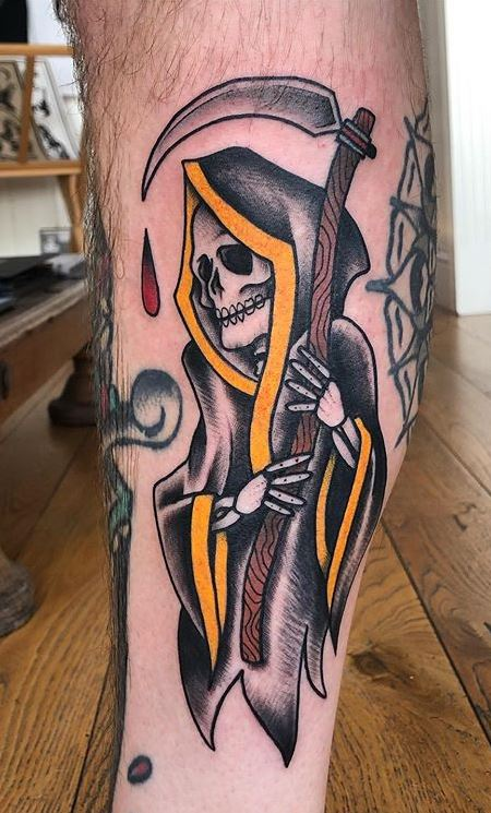 Traditional Reaper Tattoos : traditional, reaper, tattoos, Unique, Reaper, Tattoos, You'll, Tattoo