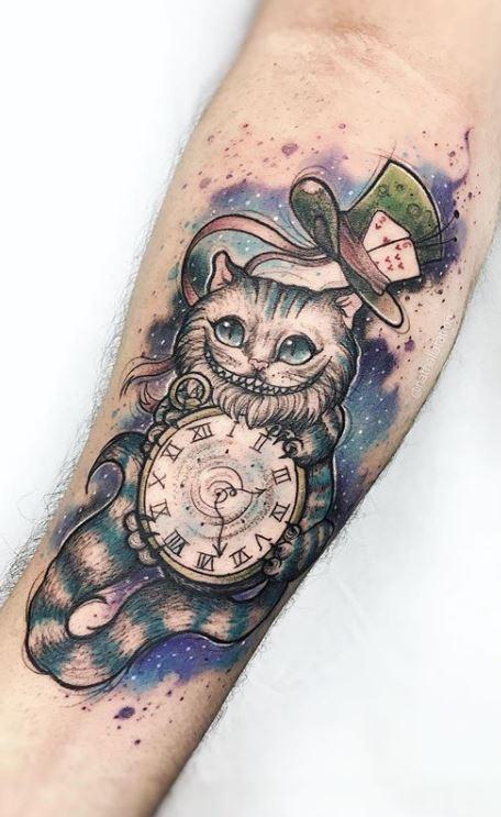 Alice In Wonderland Cat Tattoo : alice, wonderland, tattoo, Alice, Wonderland, Tattoos, You'll, Tattoo