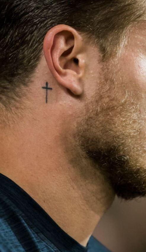 Cross Behind Ear Men : cross, behind, Trendy, Behind, Tattoos, Ideas, Tattoo