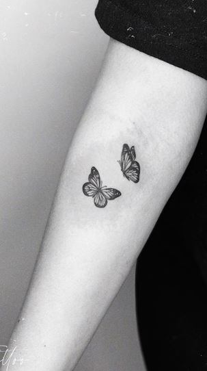 Black And White Butterfly Tattoo : black, white, butterfly, tattoo, Beautiful, Butterfly, Tattoos, Their, Meaning, Photos