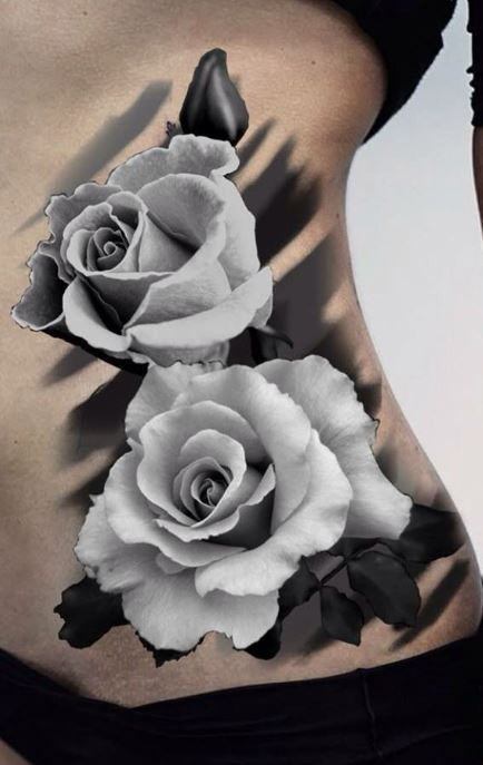 Roses Tattoo Black And White : roses, tattoo, black, white, Trendy, Tattoo, Designs,, Ideas, Meanings