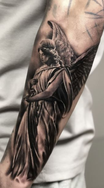 Guardian Angel Tattoos : guardian, angel, tattoos, Angel, Tattoos, Beautiful, Ideas, Designs, Women