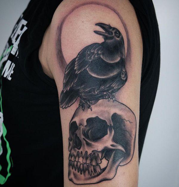 Tattoo Vorlagen Oberarm Totenkopf