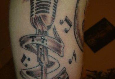 Microphone Tattoo Designs