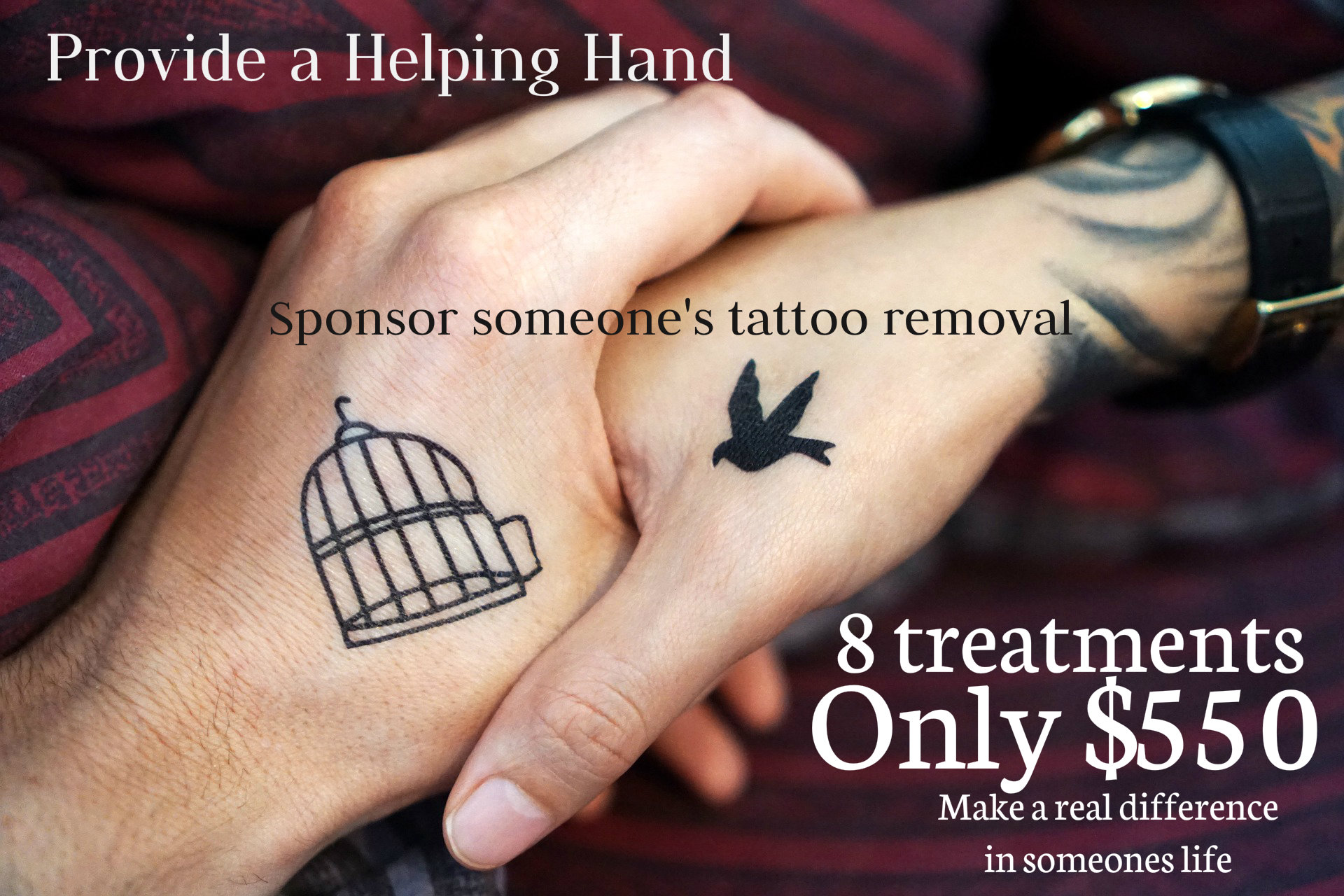 Sponsor tattoo removal