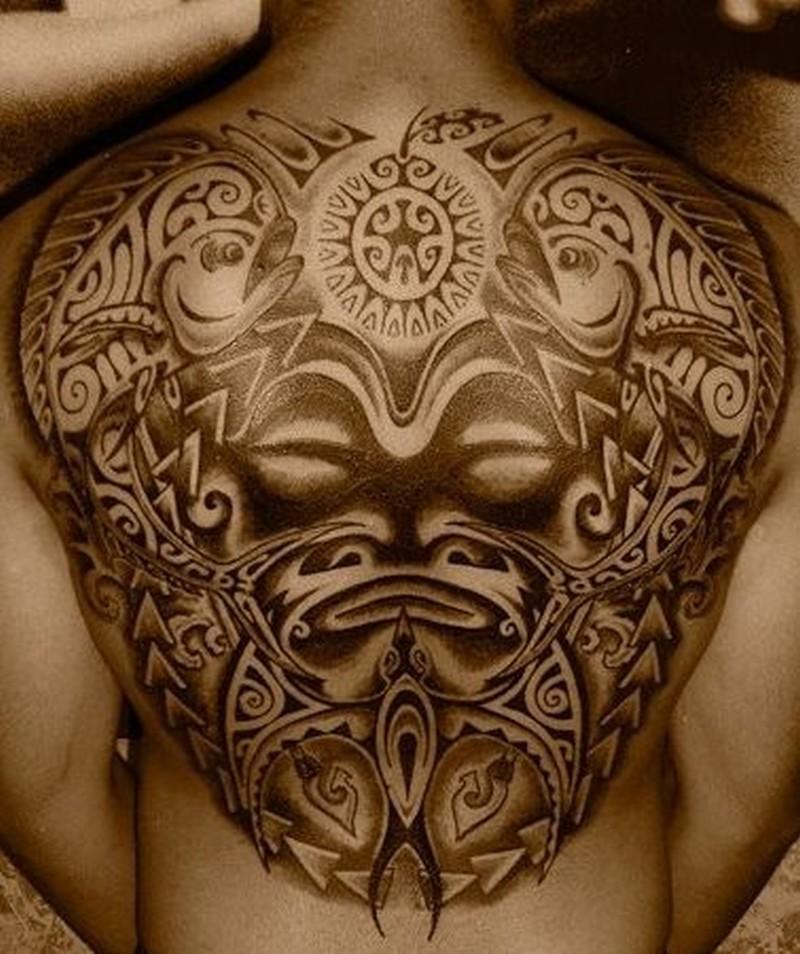 Polynesian Tattoo Back Shoulder