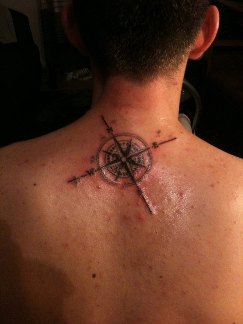 Compass Tattoo On Neck Back For Men Tattoos Book 65000 Tattoos
