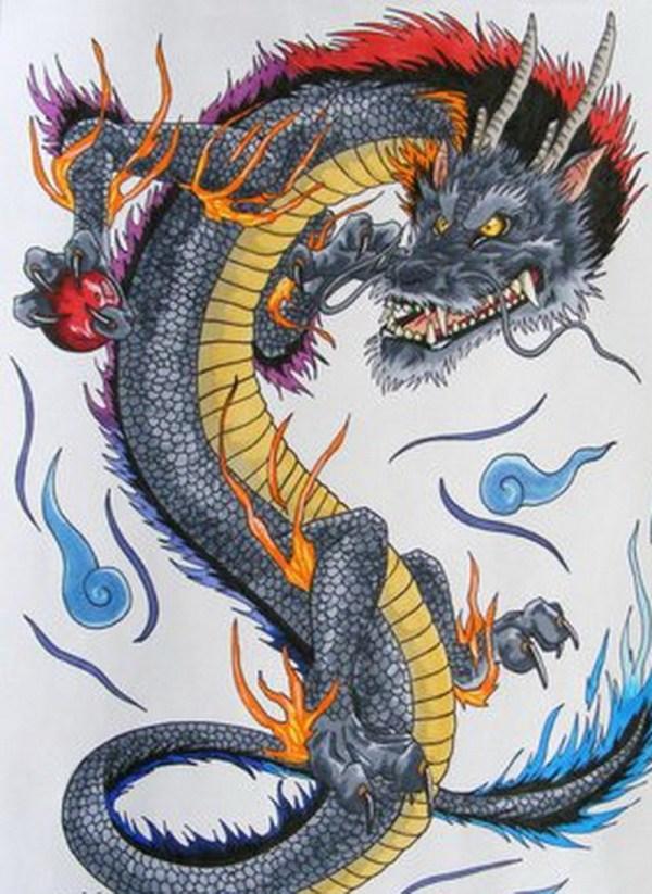 Japanese Dragon Tattoo Design