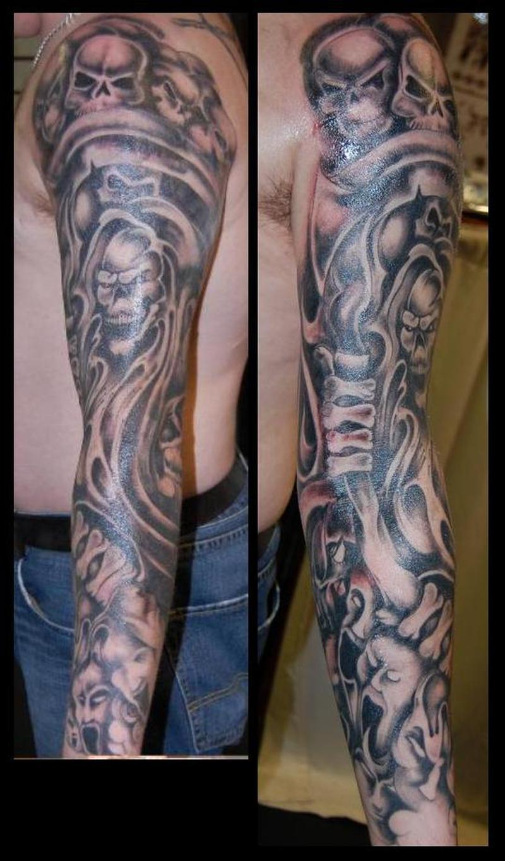 Grim Reaper Sleeve : reaper, sleeve, Sleeve, Reaper, Tattoo, Tattoos, 65.000, Designs