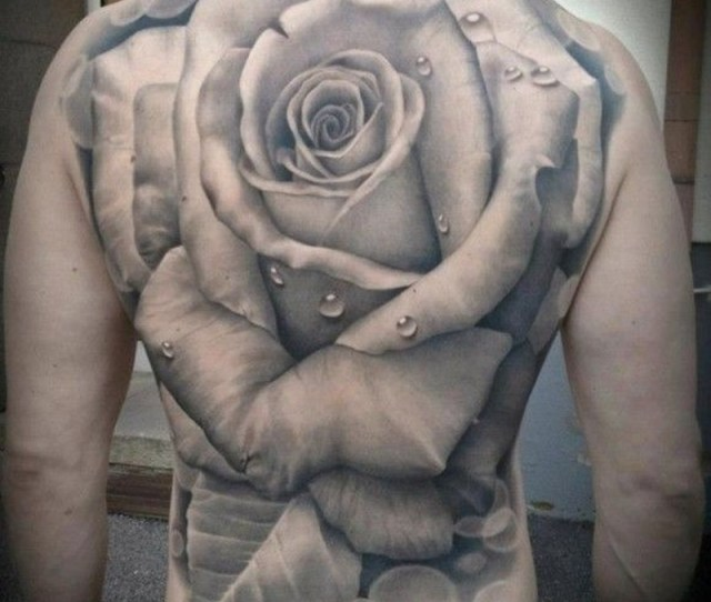 Great Realistic Rose Tattoo By Malena Backman
