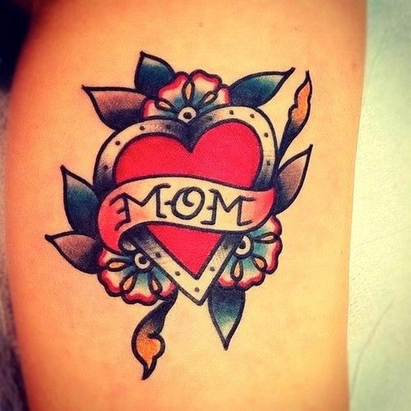 Old School Heart Tattoo Design