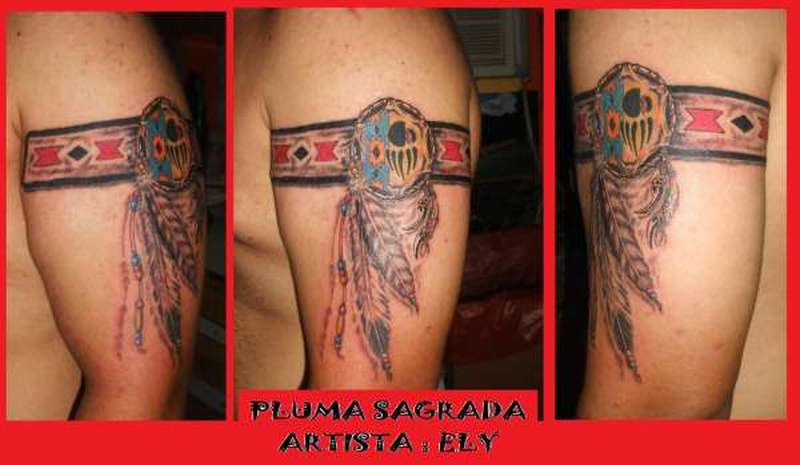 Native American Tribal Armband Tattoos