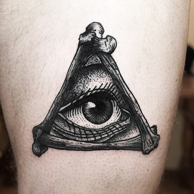 Triangle With Eye Tattoo Design
