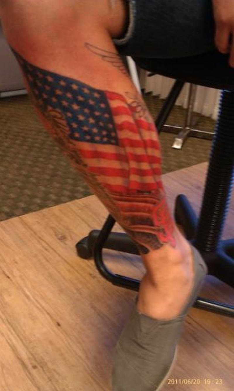 Us Flag Tattoo On Leg For Men Tattoos Book 65000 Tattoos Designs