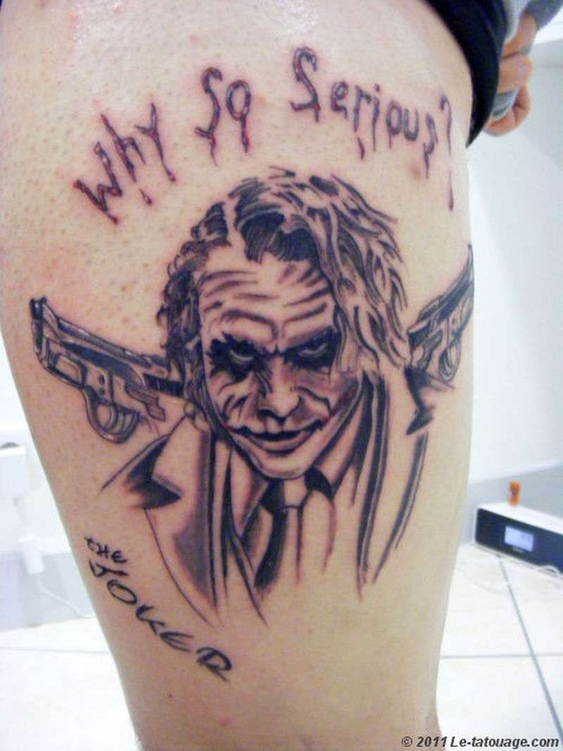 Gangster Joker Tattoo Designs