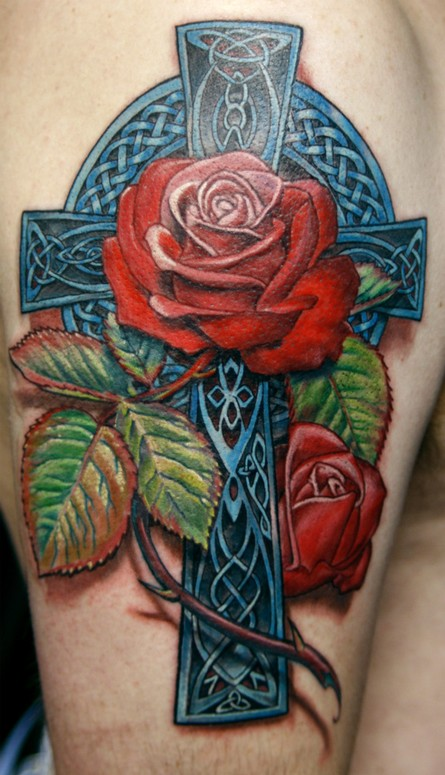 Celtic Rose Tattoo : celtic, tattoo, Celtic, Todo:, TattooNOW