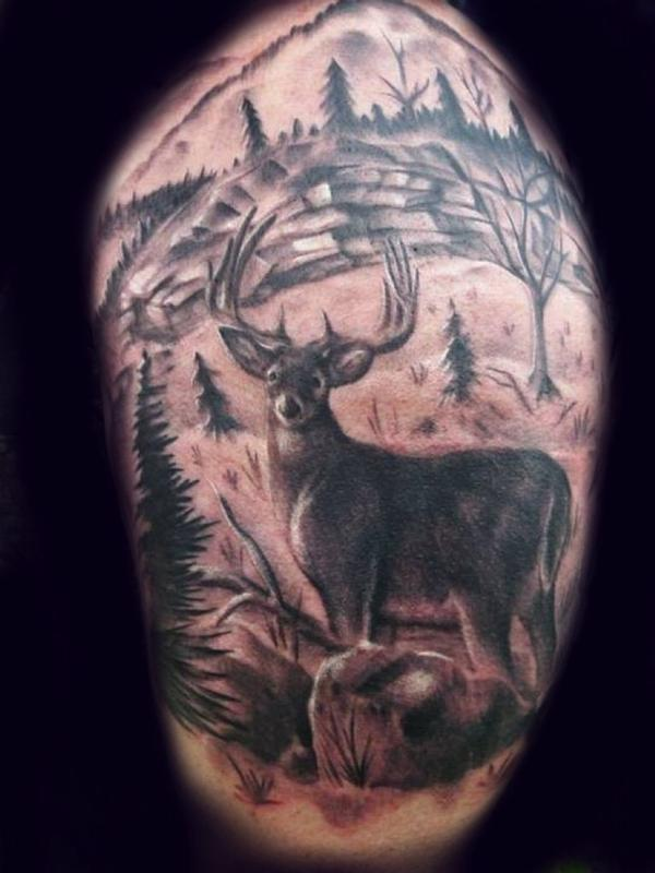 Easy Hunting Tattoos : hunting, tattoos, Quarter, Sleeve, Hunting, Tattoo, James, Russom:, TattooNOW