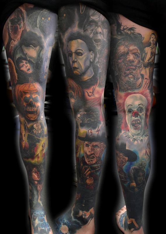 Portrait Sleeve Tattoos : portrait, sleeve, tattoos, Horror, Portrait, Sleeve, Tattoo, Aldred:, TattooNOW