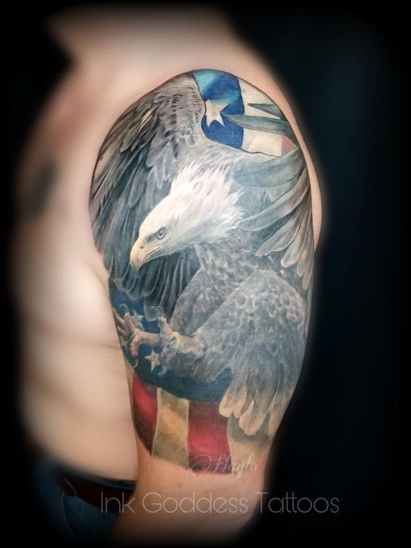 American Flag Half Sleeve : american, sleeve, Eagle, American, Sleeve, Haylo, Tattoos
