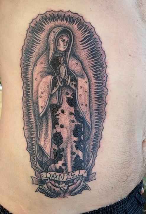 Lady Of Guadalupe Tattoo : guadalupe, tattoo, Black, Guadalupe, Tattoo, Johnson:, TattooNOW