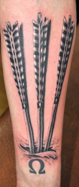 3 Arrow Tattoo : arrow, tattoo, Arrows, George, Scharfenberg, TattooNOW