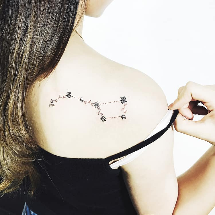 40 Gorgeous Constellation Tattoo Designs Page 2 Of 4 Ideas And Designs