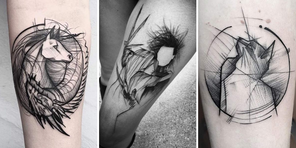 40 Fascinating Sketch Style Tattoo Designs Tattooblend Ideas And Designs