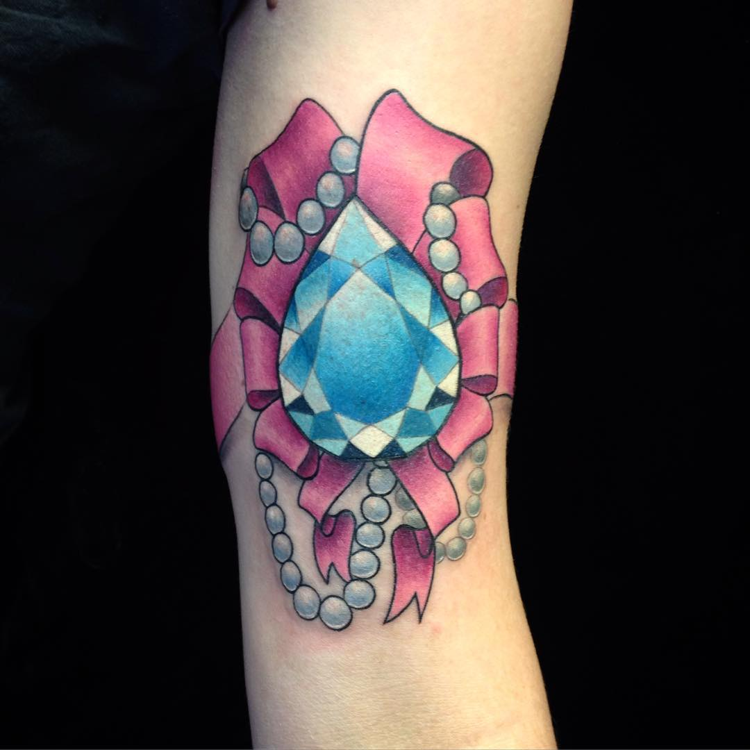 75 Best Diamond Tattoo Designs Meanings Treasure For Ideas And Designs