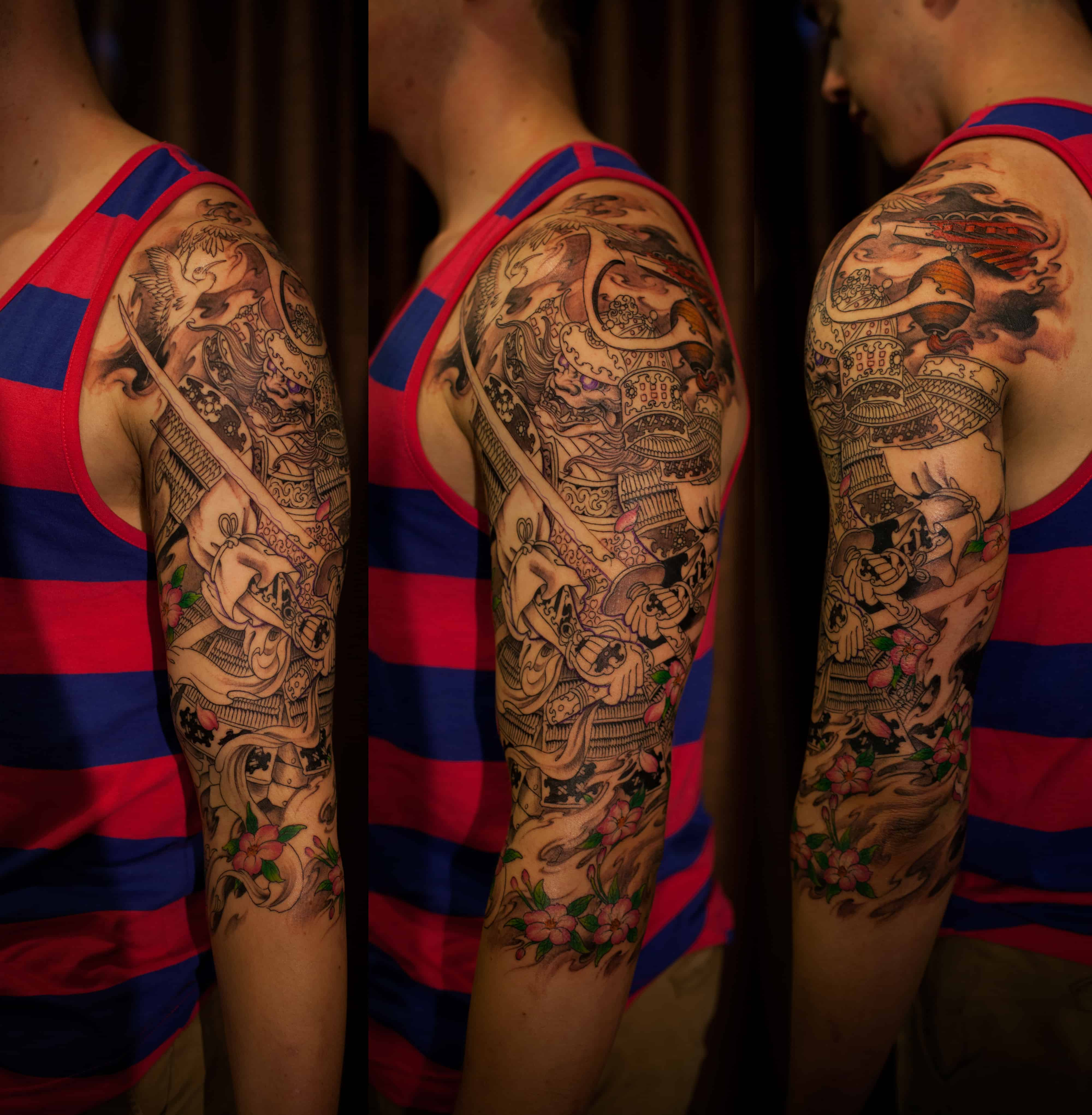 3 4 Sleeve Samurai Tattoo Chronic Ink Ideas And Designs