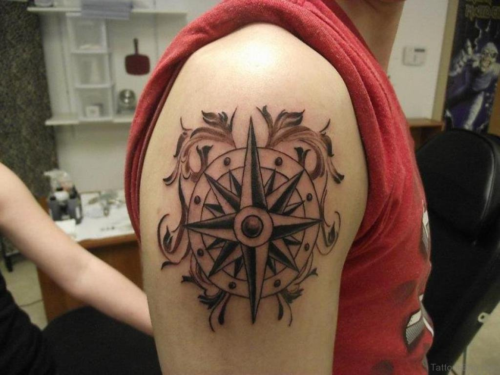 50 Amazing Compass Tattoos On Shoulder Ideas And Designs