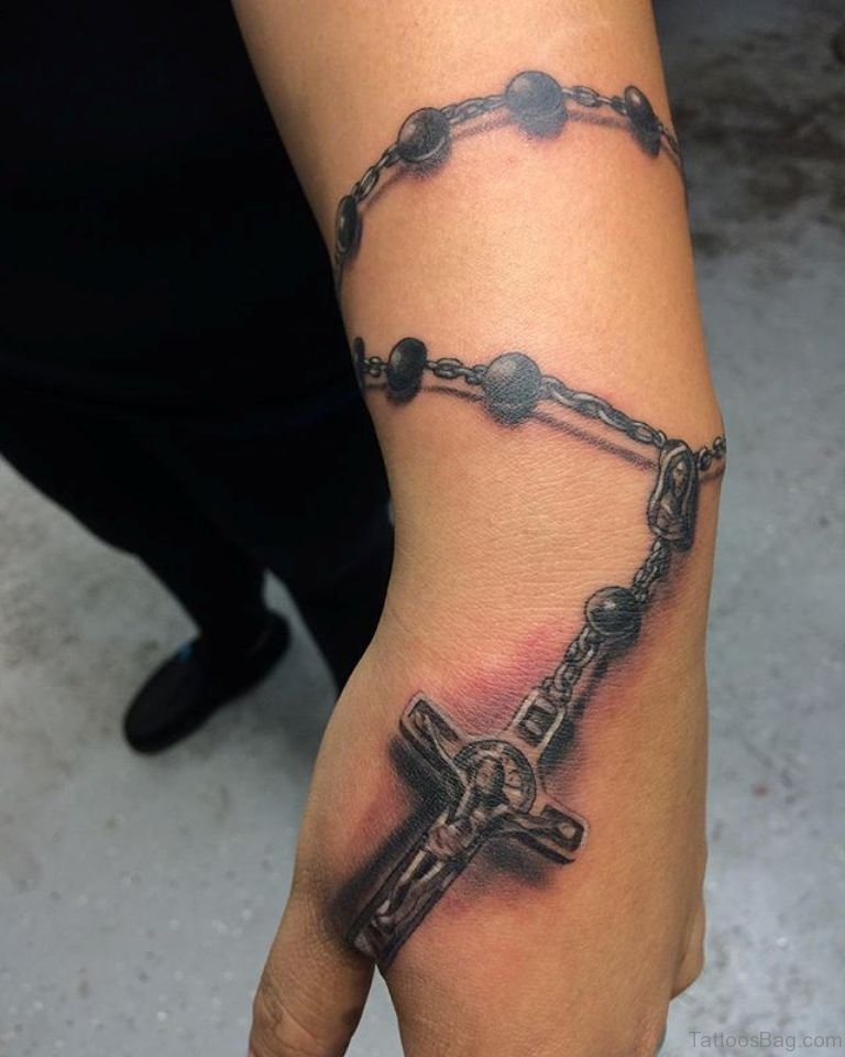 30 Cool Rosary Tattoos On Hand Ideas And Designs