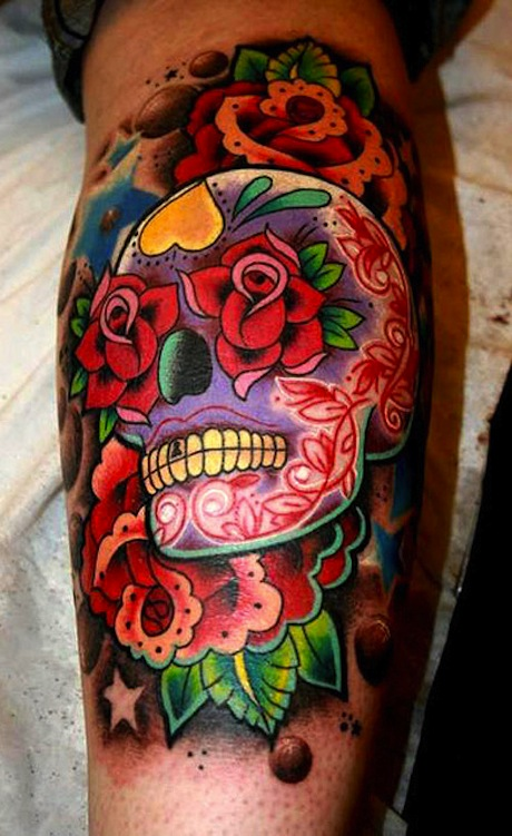 Candy Skull Tattoos Designs Ideas And Meaning Tattoos Ideas And Designs