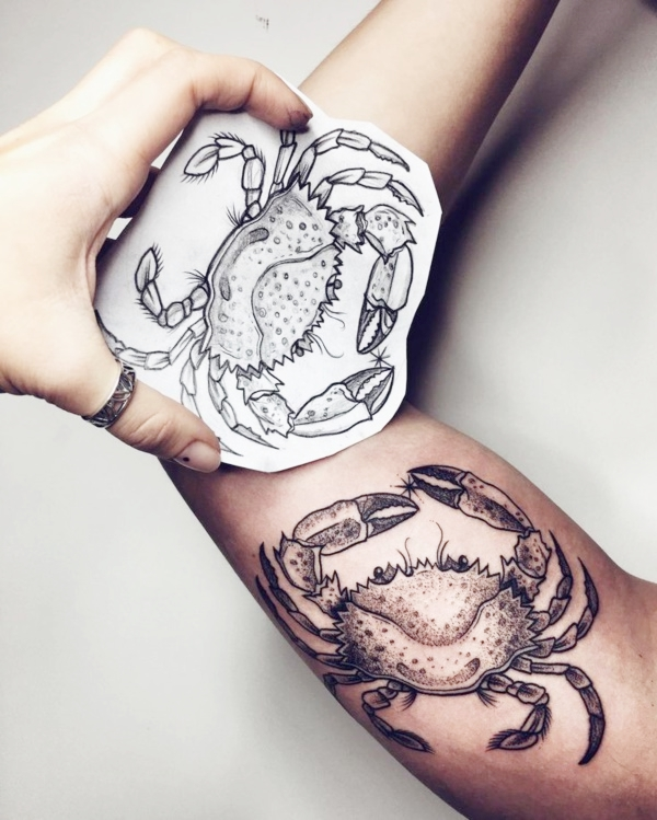27 Cancer Zodiac Tattoo Designs With Actual Meaning Ideas And Designs